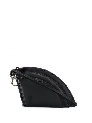 Кожаная черная сумка на плечо на молнии Discord Yohji Yamamoto