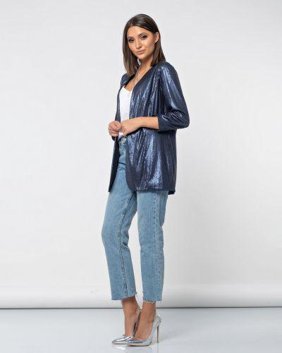 Свободный с рукавами удлиненный пиджак с пайетками Jetty