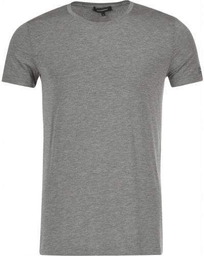 Серая футболка хлопковая Ermenegildo Zegna