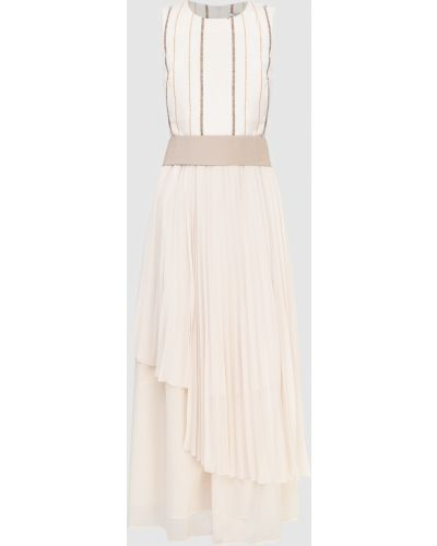 Бежевое платье макси Peserico