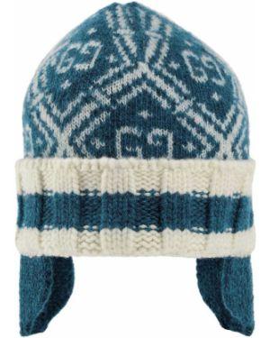 Niebieski kapelusz wełniany w paski Gucci Kids