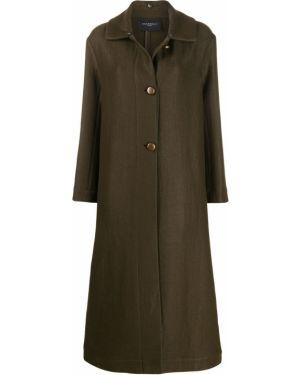 Однобортное пальто классическое с капюшоном с воротником Antonelli