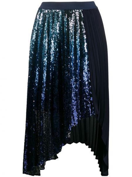 Плиссированная юбка с пайетками с поясом Pinko