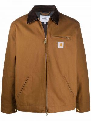 Коричневая куртка с карманами Carhartt Wip