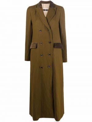 Зеленое шерстяное пальто Uma Wang