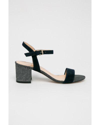 Туфли на каблуке кожаные темно-синий Badura