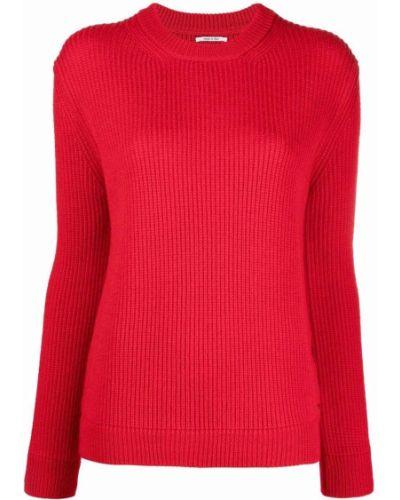 Джемпер с вырезом - красный Woolrich