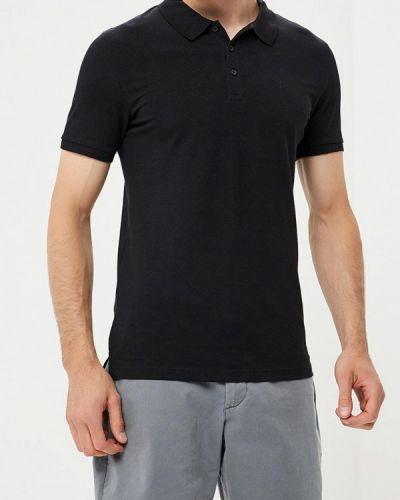 Черное поло с коротким рукавом Celio