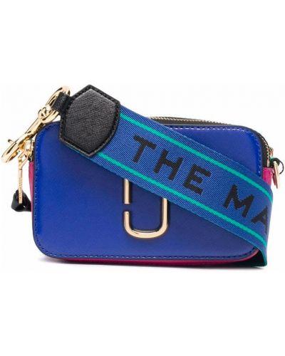 Torba na ramię skórzana - niebieska Marc Jacobs