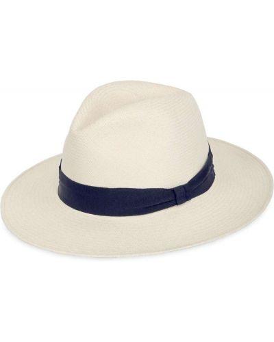 Соломенные белые шляпа с широкими полями свободного кроя Frescobol Carioca