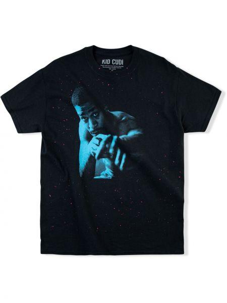Niebieski t-shirt krótki rękaw bawełniany Kid Cudi