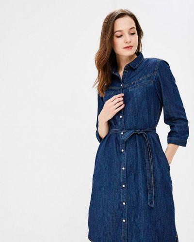 Джинсовое платье с длинными рукавами осеннее Q/s Designed By