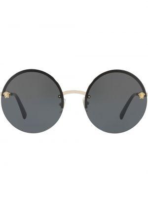 Прямые желтые солнцезащитные очки круглые металлические Versace Eyewear
