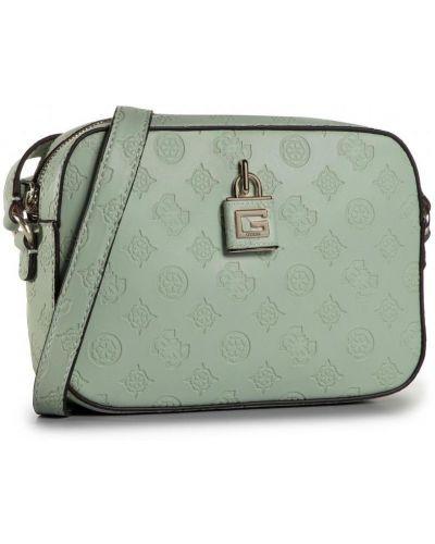 Зеленая сумка через плечо из искусственной кожи Guess
