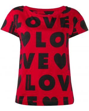 Топ красный футбольный Love Moschino