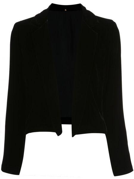 С рукавами бархатная черная куртка с воротником Peter Cohen