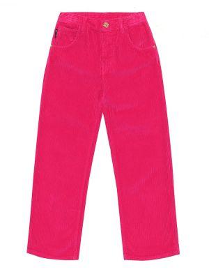 Bawełna spodni bawełna różowy spodnie Versace Kids