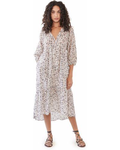 Шелковое платье с декольте с подкладкой Xírena