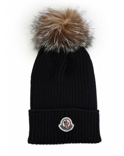 Niebieska czapka Moncler