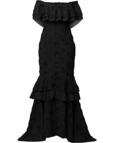 Открытое черное платье макси с оборками We Are Kindred