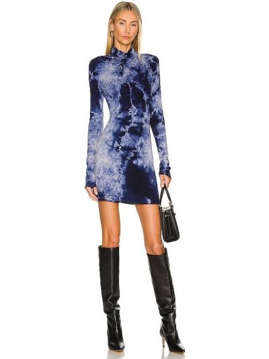 Платье мини короткое - синее House Of Harlow 1960