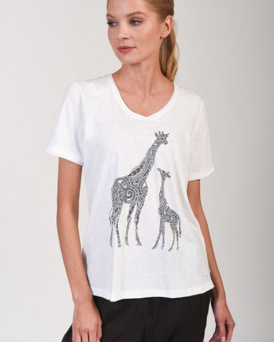 Хлопковая футболка Olsen