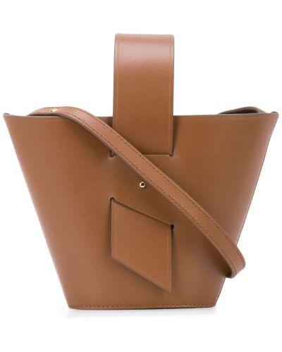 Маленькая сумка кожаная сумка-тоут Carolina Santo Domingo