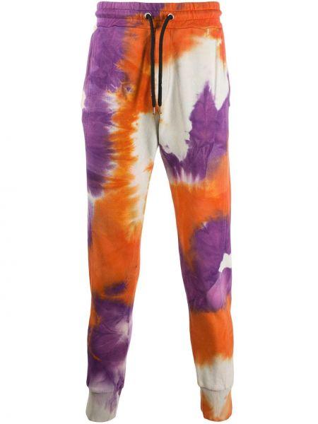 Спортивные фиолетовые спортивные брюки с поясом на шнурках Mauna Kea