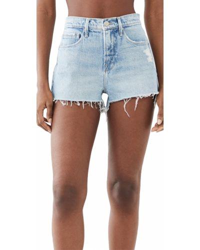Niebieskie szorty jeansowe bawełniane Good American