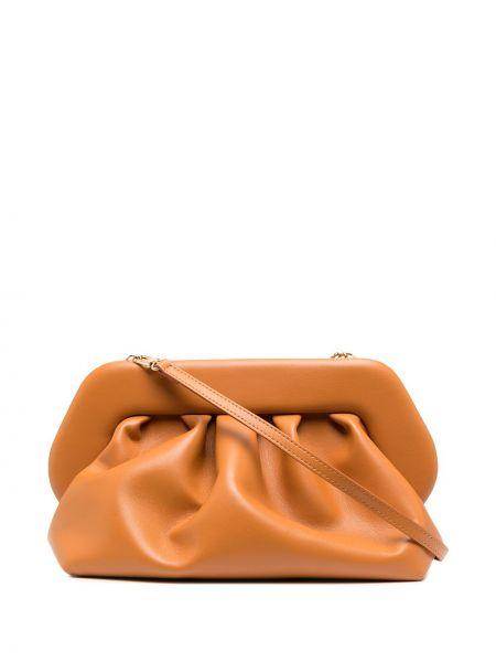 Оранжевый кожаный сумка на плечо Themoirè