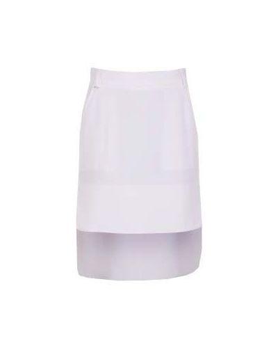 Повседневная белая юбка мини из вискозы Irfé