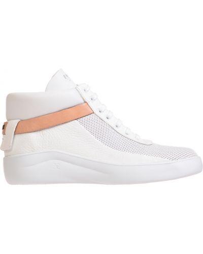 Белые кожаные кроссовки Fabi