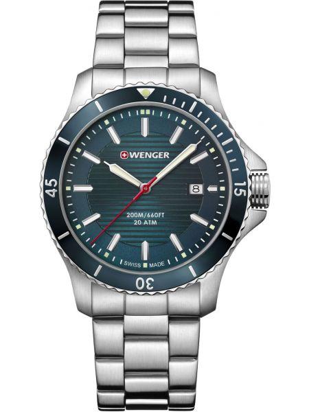 Часы водонепроницаемые с подсветкой зеленый Wenger