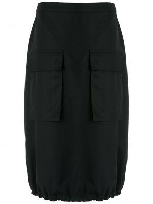 Хлопковое платье миди - черное Uma   Raquel Davidowicz