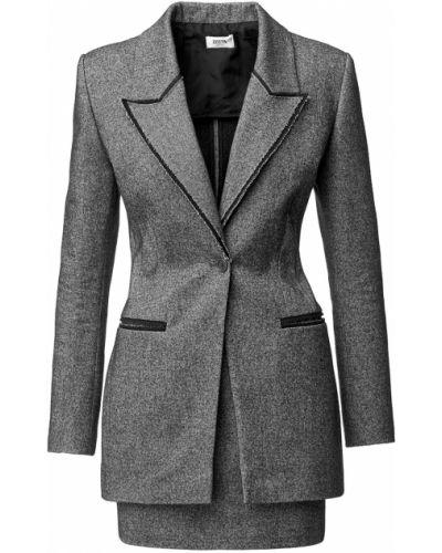 Серый однобортный пиджак с подкладкой Izeta