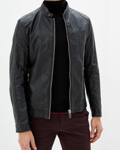 Кожаная куртка черная осенняя Antony Morato