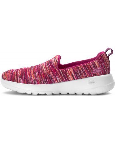 Слипоны розовый спортивные Skechers