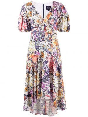 Платье мини с вырезом - фиолетовое Marchesa Notte