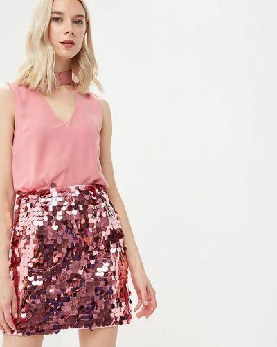 Розовая блузка без рукавов Glamorous