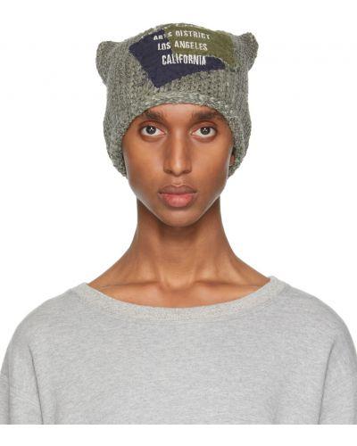 Biała czapka wełniana Greg Lauren