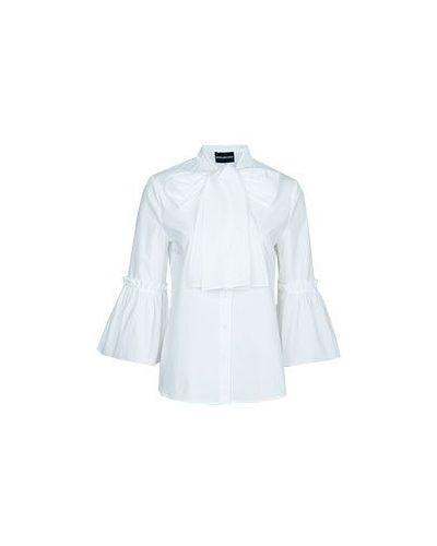 Хлопковая рубашка - белая Marco Bologna