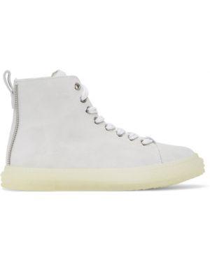 Wysoki sneakersy białe srebro Giuseppe Zanotti