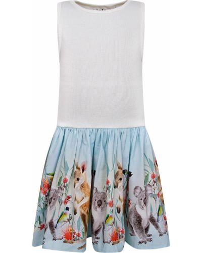 Хлопковое белое платье Molo