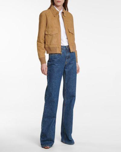 Замшевая кожаная куртка - бежевая Polo Ralph Lauren