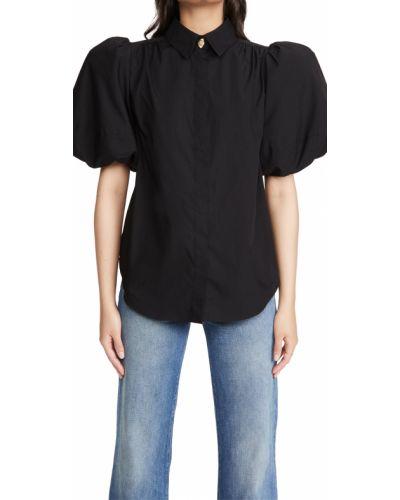 Хлопковая черная рубашка с манжетами Aje