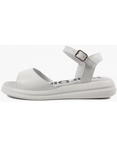 Кожаные сандалии - белые Barbilioni