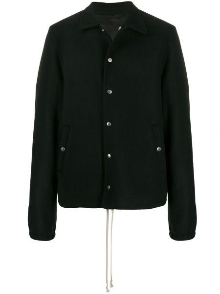 Długa kurtka czarna z guzikami Rick Owens