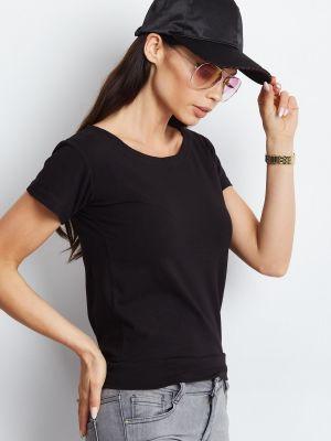 Czarny t-shirt bawełniany miejski Fashionhunters