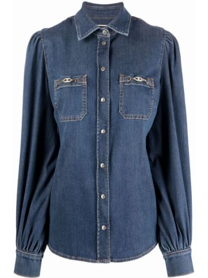 Koszula jeansowa - niebieska Elisabetta Franchi