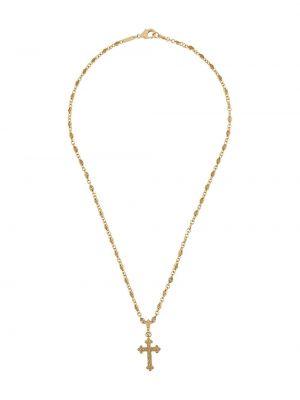Ażurowy złoty naszyjnik Dolce And Gabbana